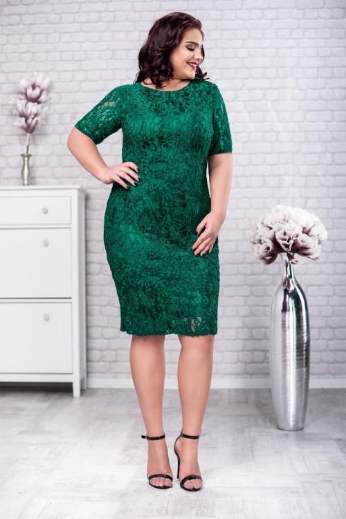 Rochie verde din dantela Ania