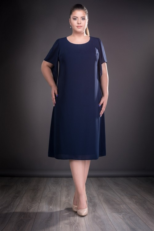 Rochie bleumarin eleganta...
