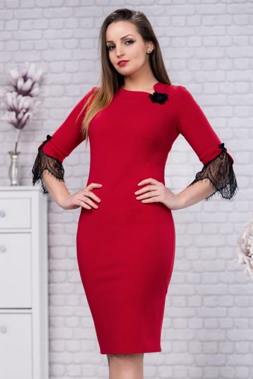 Rochie eleganta rosu cu...