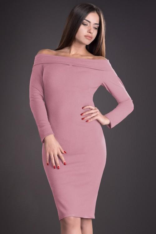 Rochie eleganta roz cu...