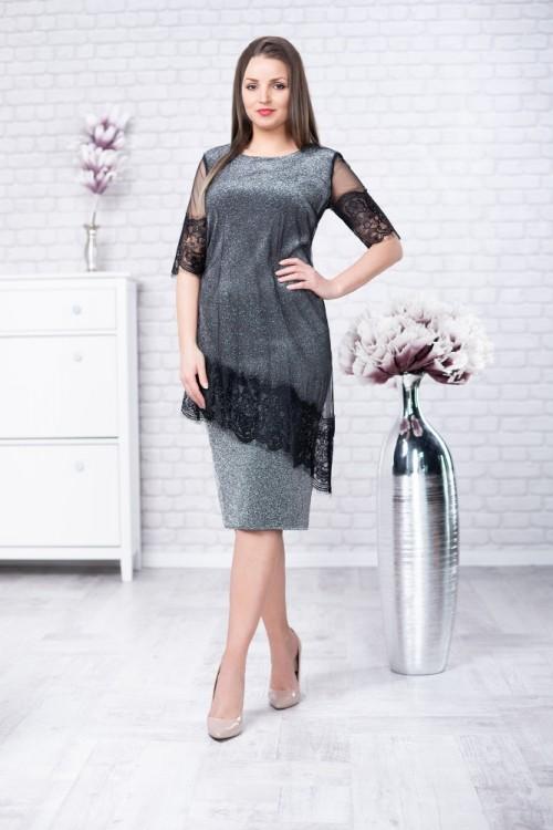 Rochie gri eleganta Ayana