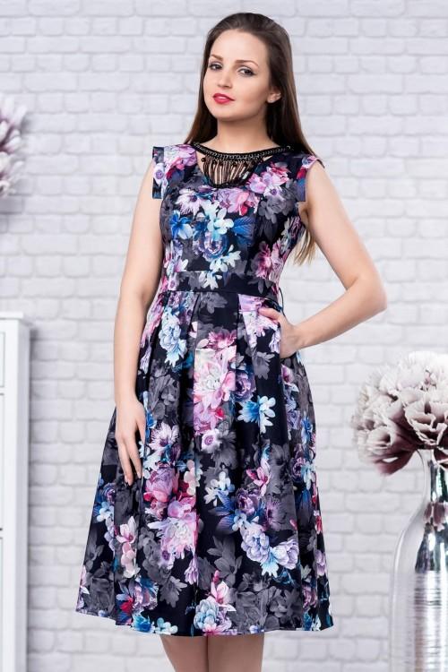 Rochie eleganta cu imprimeu...