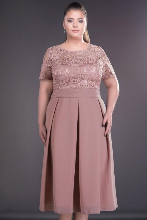 Rochie eleganta roz prafuit...