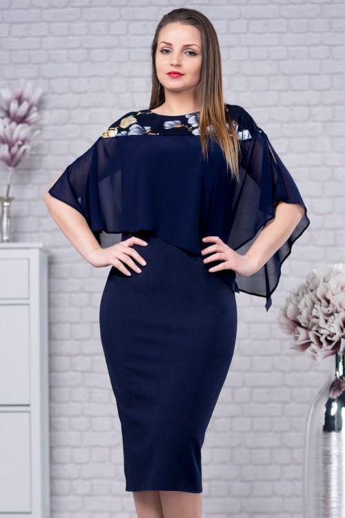 Rochie eleganta bleumarin...