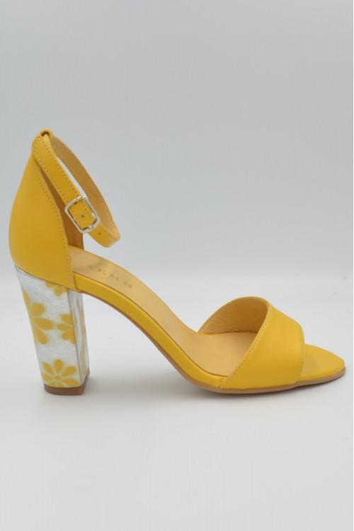 Sandale dama galbene din...