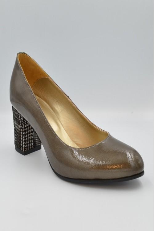 Pantofi dama bej din piele...