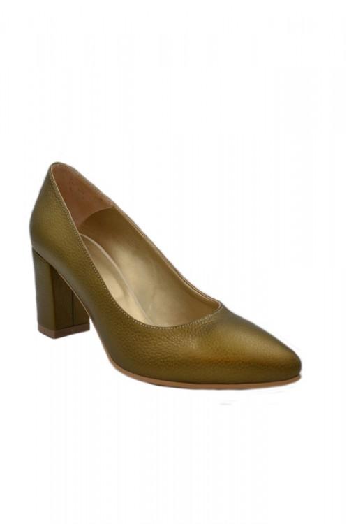 Pantofi dama aurii cu toc...