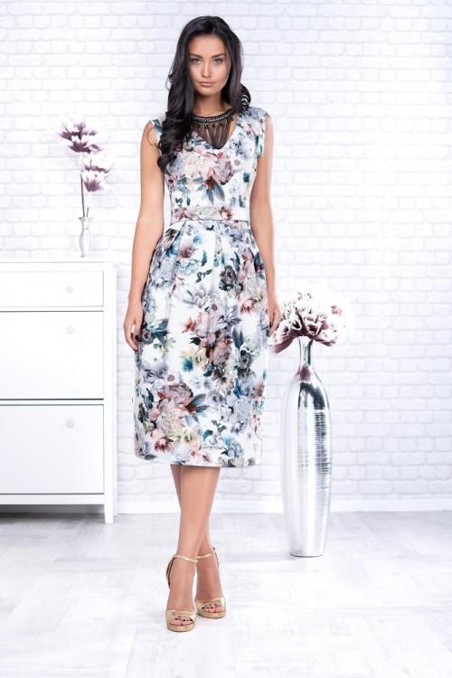 Rochie eleganta midi cu...