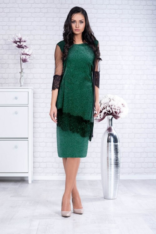 Rochie verde eleganta de...
