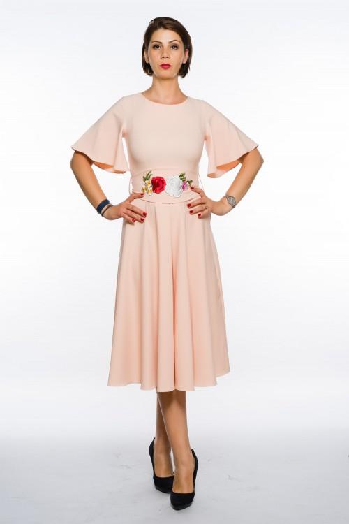 Rochie roz trei sferturi in...