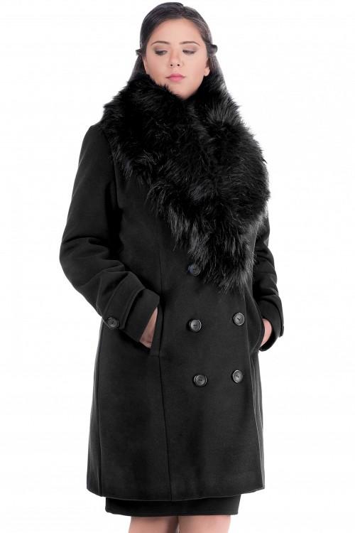 Palton cu blana Ambra