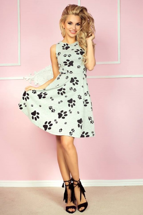 Rochie de zi cu imprimeu vesel