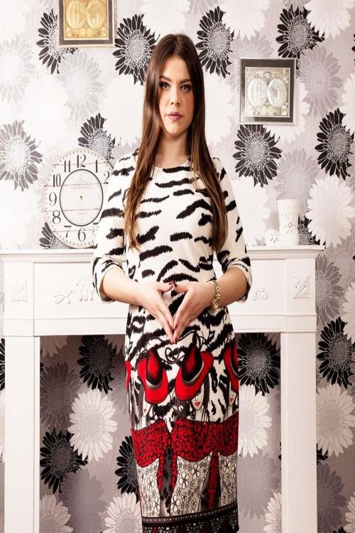 Rochie de zi animal print