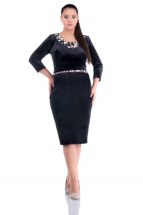 Rochie catifea neagra Alie