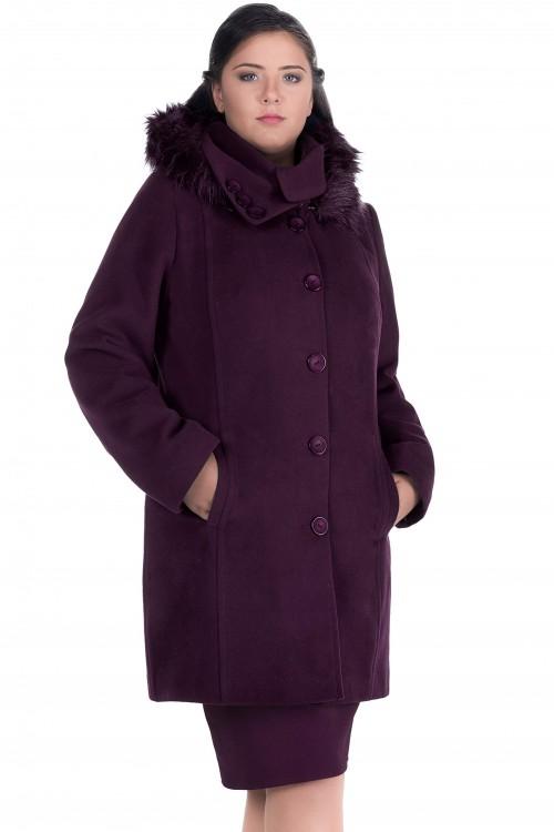 Palton dama din stofa mov...