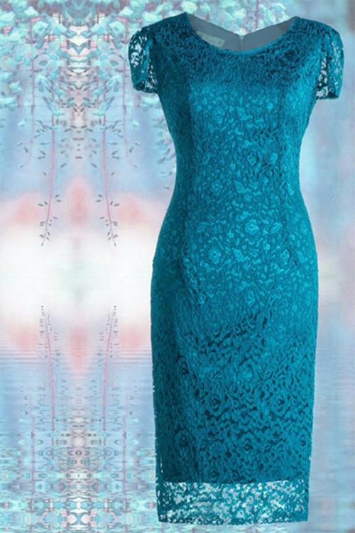 Rochie eleganta turcoaz Iris