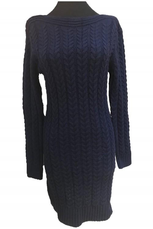 Rochie tricotata bleumarin
